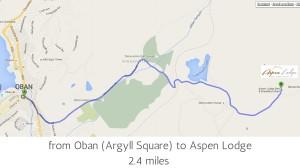 Oban to Aspen Lodge